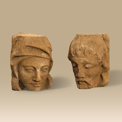 A Pair Of Early Stone Corbels
