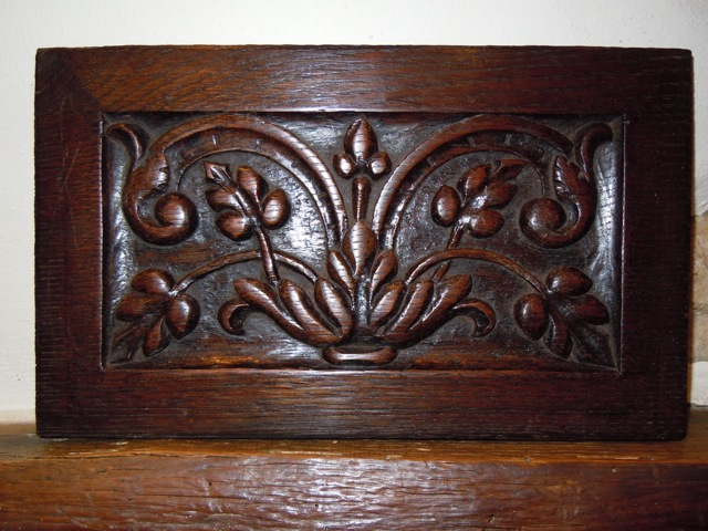 A Period Carved Oak Carved Panel Removed From A Reconstructed 16th Century Dressoir