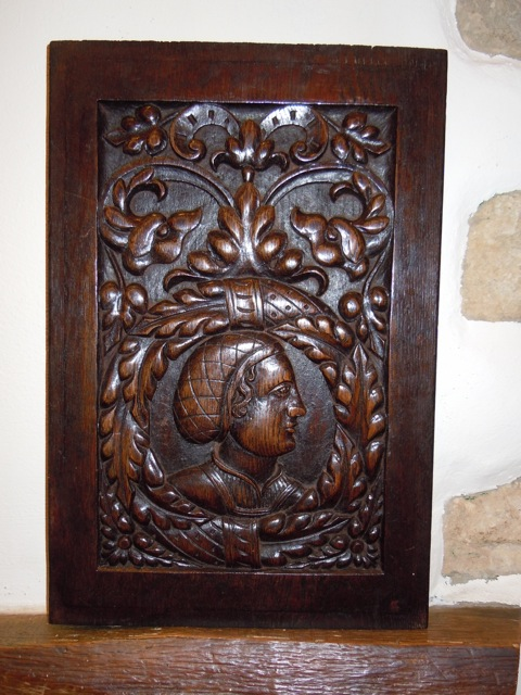 A Period Carved Oak Panel Removed From A Reconstructed 16th Century Dressoir