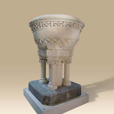 A Rare 12th Century Romanesque Font