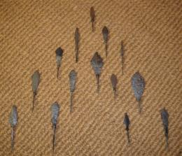 A Selection Of Medieval Arrowheads