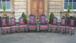 A Set Of 8 19th Century Chairs Including 2 Carvers