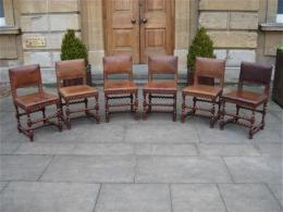 A Set Of Six Late 19th Century Oak Chairs