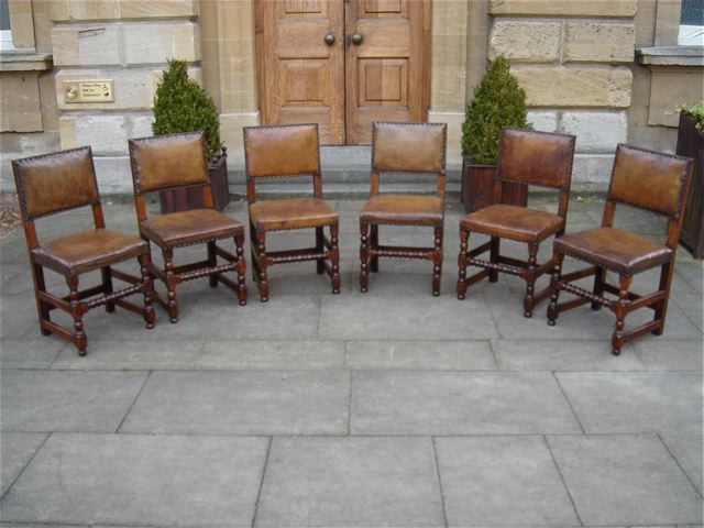 A Set Of Six Late 19th Century Walnut Chairs