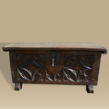 A Small 16th Century Oak Chest