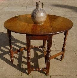 A Small 17th Century Oak Gate Leg Table