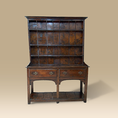 A Small Late 18th Century Oak Pot Board Dresser.