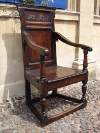 A Superb 17th Century Oak Wainscot Chair