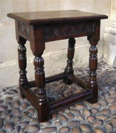 A Superb Late 16th Century Elizabethan Joint Stool.