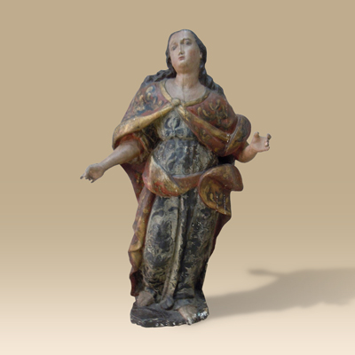 A Superb Late 16th Century Renaissance Carved Wood Statue