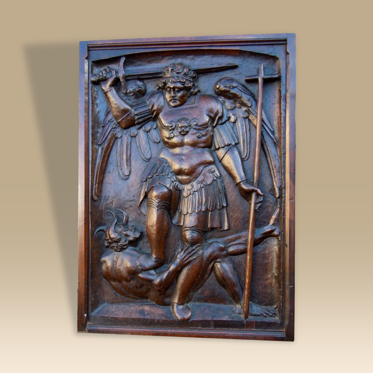 A well executed 16th century walnut panel