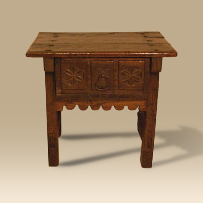 An 17th/18th Walnut Spanish Side Table