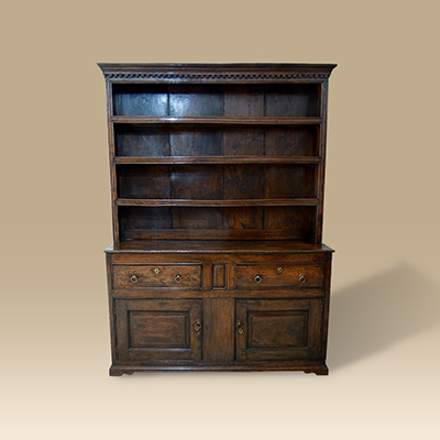An 18th Century Elm Dresser & Rack