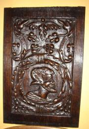 An Early 16th Century Oak Romayne Head Panel Dating To 1511 Of Exceptional Quality