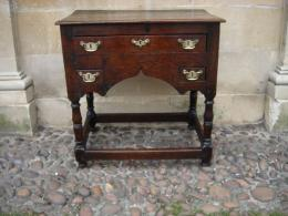 An Early 18th Century Oak Lowboy