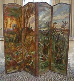 An Early 19th Century Four Fold Screen