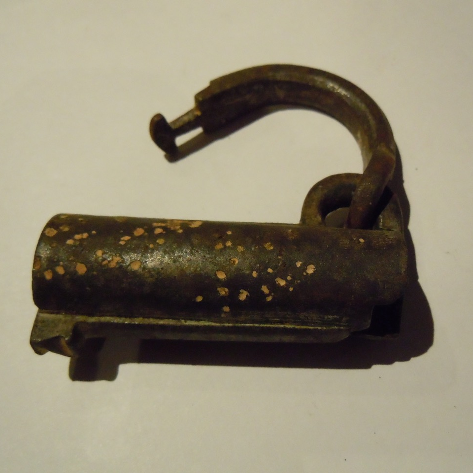 An Excavated Medieval Iron Padlock