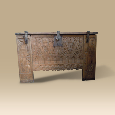 An Important Oak Chest Dating To The 14th Century