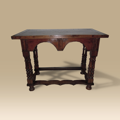 An Oak, Walnut And Yew Wood Side Table Circa 1690