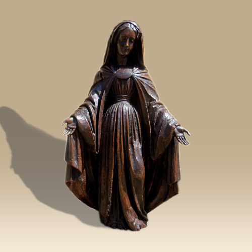 A 17th Century Statue of The Virgin Mary