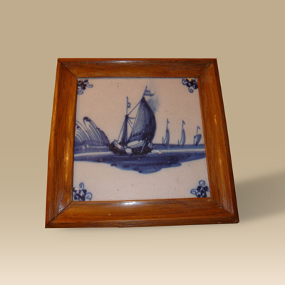 Blue Tile In Frame