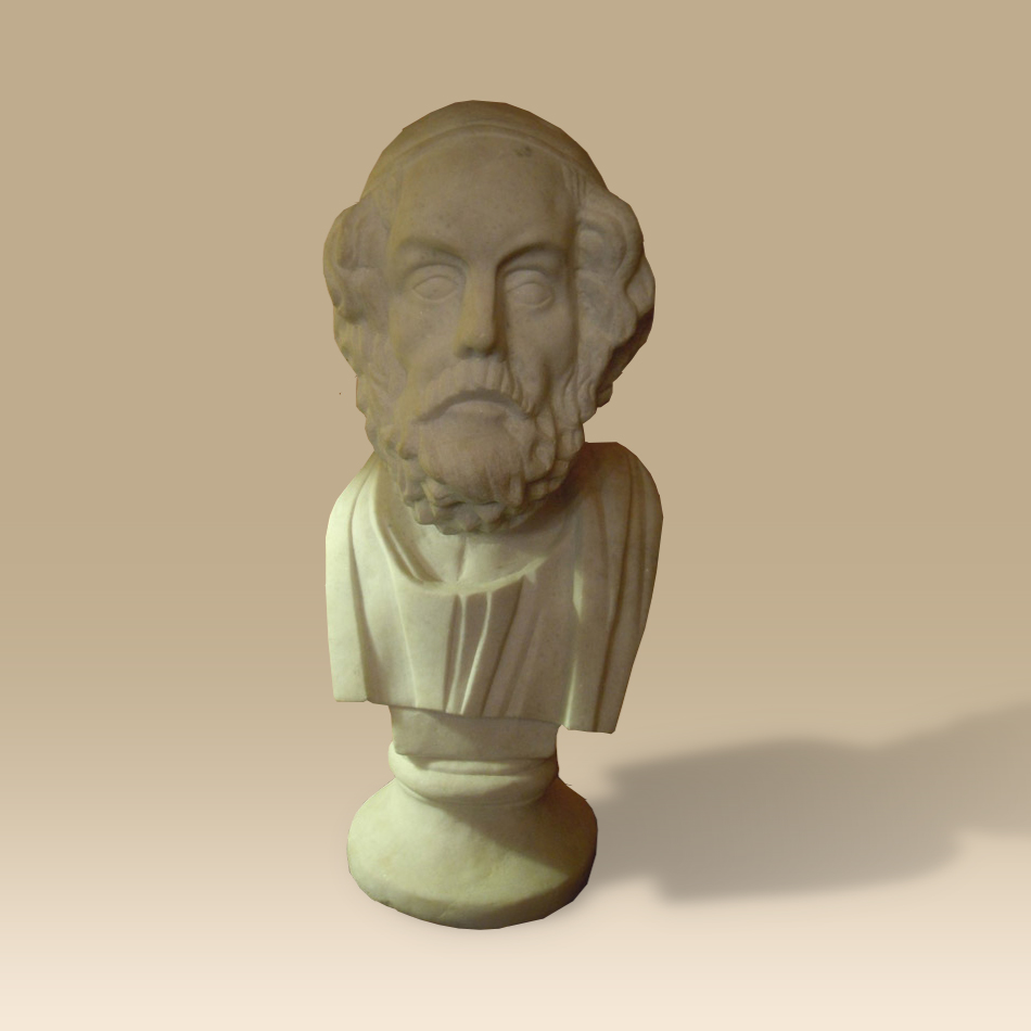 I8th/19th Century Marble Bust Of Homer