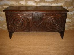 Late 16th Century Oak Six Plank Coffer