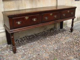 Late 17th Century Early 18th Century Oak Low Dresser