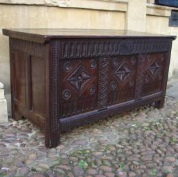 Late 17th Century Oak Coffer