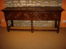 Late 17th Century Oak Low Three Drawer Dresser