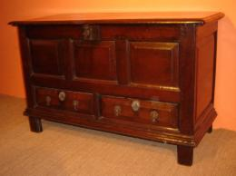 Late 17th Century Oak Mule Chest