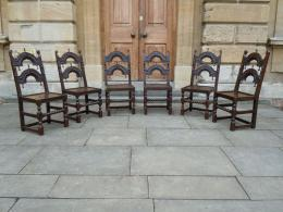 Late 17th Century Oak Yorkshire Back Stools Circa 1680