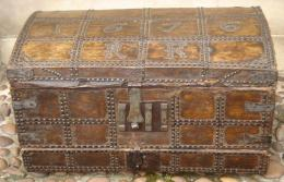 Leather Bound Carrying Box Dated 1676