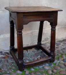 Mid 17th Century Oak Joint Stool