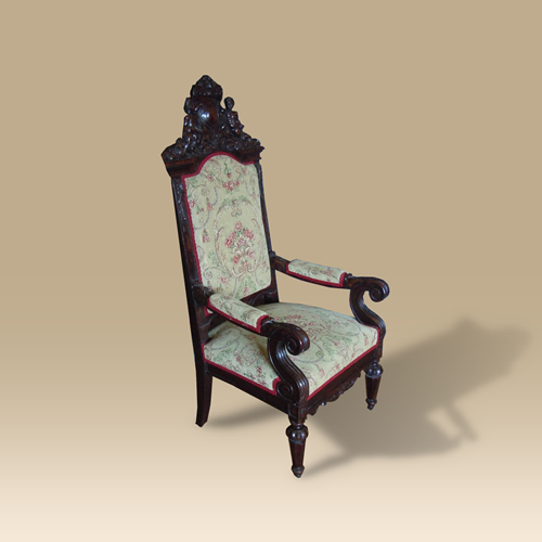 Mid 19th Century Oak Armchair