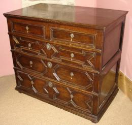 Moulded Chest Of Drawers  Circa 1700