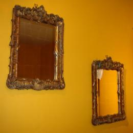 Pair Of Small Mid 19th Century Mirrors