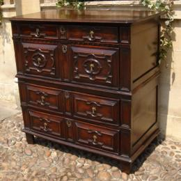 Rare Chest Of Drawers Circa 1660