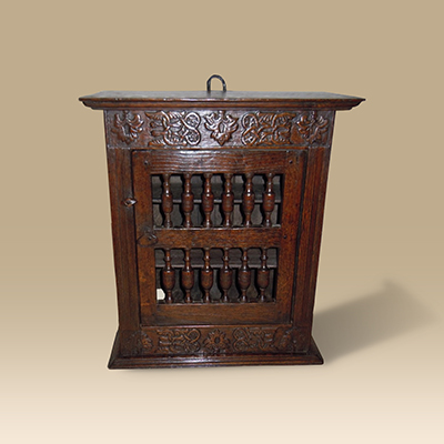 Rare Mid 17th Century Oak Food Cupboard