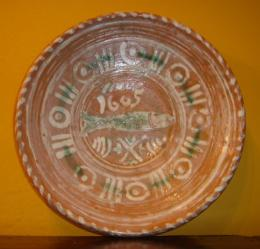 Slipware Dish Dated 1605