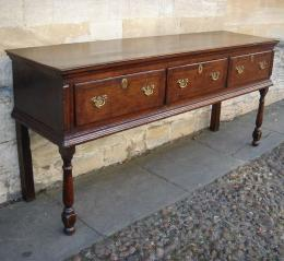Three Drawer Low Dresser from Mid 18th Century