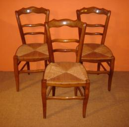 Three French Cherry Chairs