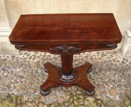 William IV Card Table